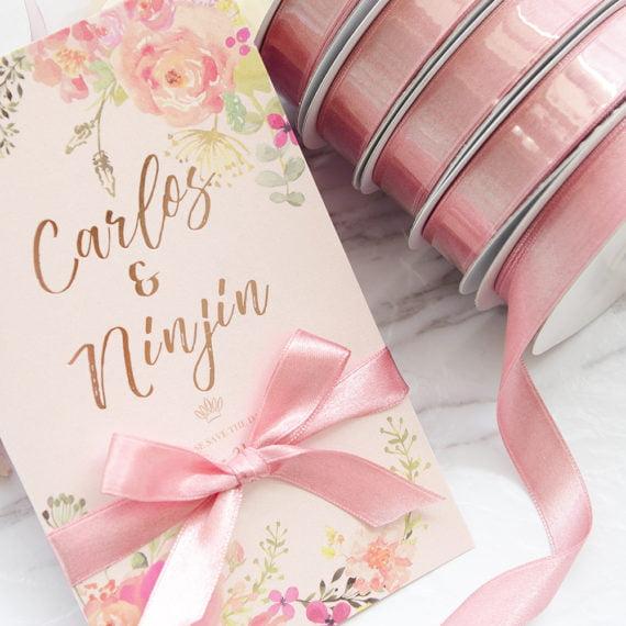AR017 櫻花粉緞帶