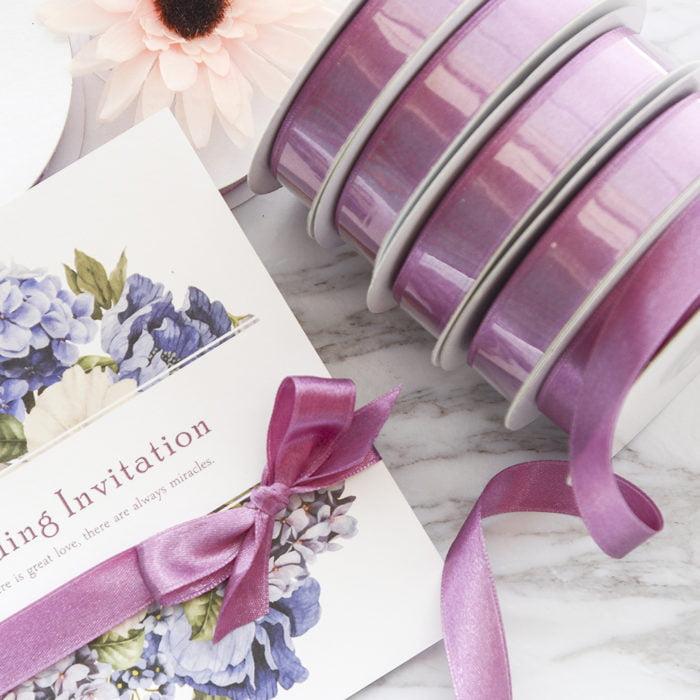 AR018 紫櫻色緞帶