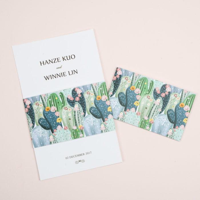 wedding invitation AC009刺刺仙人掌腰封–1 20180713