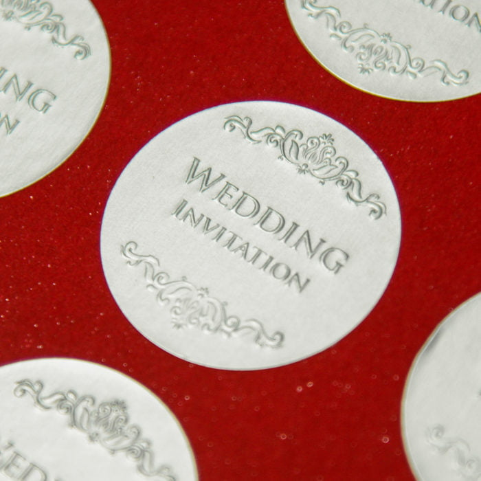 圓形銀箔Wedding貼紙 20180306