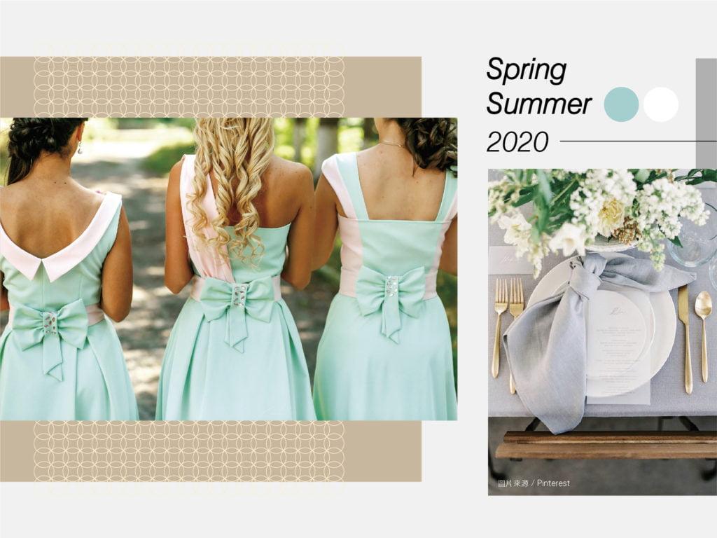 blog 2020春夏婚禮主題色 綠白 20191205